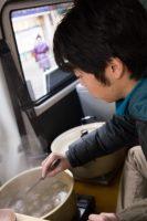 イノシシ鍋とシカ鍋
